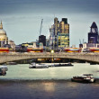 City of London at dusk — Stock Photo
