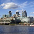 City of London financial district - Stock Photo
