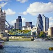 Stock Photo: London skyline seen from River Thames