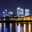 Canary Wharf by night — Stock Photo
