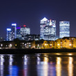 Stock Photo: Canary Wharf by night