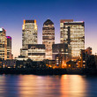 Canary Wharf at twilight — Stock Photo #13316483