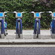 Bikes for rent in London. — Stock Photo