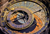 Astronomical clock in Prague, Czech republic — Stockfoto