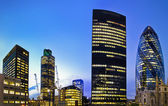 London financial district at twilight — Stock Photo