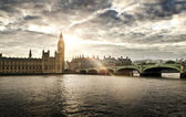 Houses of Parliament and Big Ben, London — Stock Photo