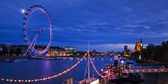 City of London at twilight — Stock Photo