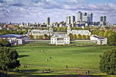 Greenwich and Canary Wharf — Stock Photo