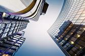 Finanční čtvrti v londýně — Stock fotografie