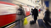 Cathcing the tube — Stock Photo