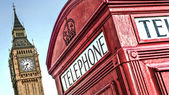 Telephone Box, London — Stock Photo