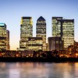 Stock Photo: Canary Wharf at twilight
