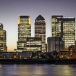 Canary Wharf at twilight — Stock Photo #23356974