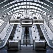 Canary wharf tunnelbanestation — Stockfoto