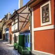 Golden Lane, Prague - Stock Photo