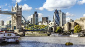 London skyline seen from the River Thames — Stok fotoğraf
