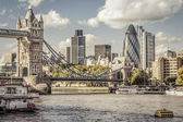 London skyline seen from the River Thames — Foto Stock