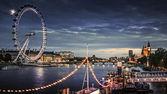 City of London at twilight — Stock Photo