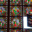 Stockfoto: Divine light. Bright stained glass