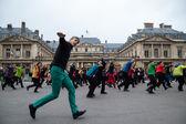 Flash mob dance. — Stock Photo