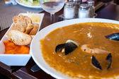 French fish soup Bouillabaisse — Stock Photo
