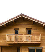 Typical alpine wooden house — Stock Photo