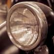 Antique car headlight — Stok fotoğraf