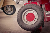 Motorcycle spare tire — Stock Photo
