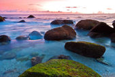 Colorful sunset of Nai Harn Beach — Stock Photo