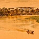 Bridge across the NakhoChaiSi River — Stock Photo