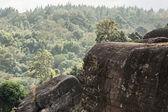 Rocky cliff,in Phu Hin Rong Kla National Park Phetchabun Provinc — Stock Photo