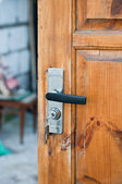 The lock on gate — Stockfoto