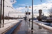 Railway platform — Stock Photo