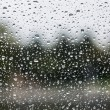 Stock Photo: Rain on glass