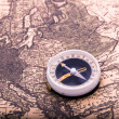 Compass on the world map — Lizenzfreies Foto