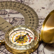 Compass on card — Stockfoto #12729209