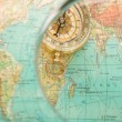 Stock Photo: Compass with map