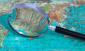 Smyčka na mapě — Stock fotografie