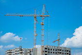 Construction of residential buildings — Stockfoto