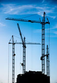 Construction of residential buildings — Stock Photo