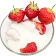 Stock Photo: Strawberries with cream