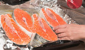 Piece of trout — Stockfoto