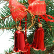 Christmas hand bells — Stock Photo