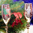 Two glasses with a fur-tree - Photo