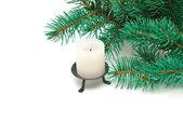 A burning candle — Stock Photo