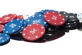 Tokens in a casino — Stock Photo