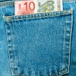 Euros in your pocket — Stock Photo