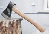 Ax into a tree — Stock Photo