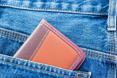 Notebook in jeans — Foto Stock