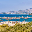 Beach umbrellas cyprus - Stockfoto